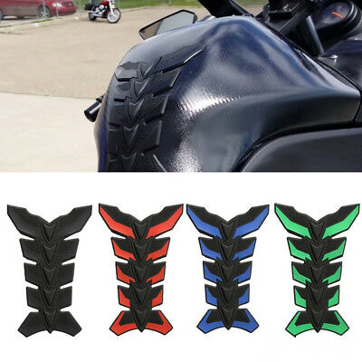 3D Rubber Motorcycle Fuel Tank Pad Protector Sticker Decal Harley Honda Suzuki