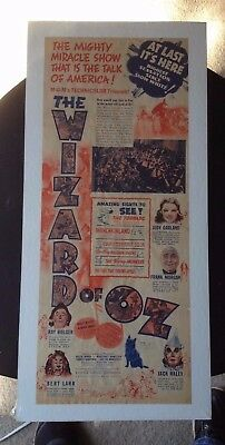 Wizard of Oz Movie Ad - At last it's here - Miracle Show!