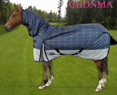 CHONMA 5'9'' 600D 250G Winter Waterproof BreathableTurnout Horse Rug Combo--A32a