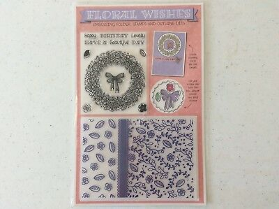 Floral Wishes Dies, Embossing Folder And Stamp Set
