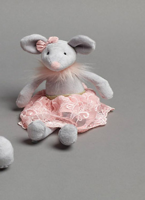 Baby Girls Pink Molly Ballerina Mouse Baby Rattle Newborn Baby Shower Gift