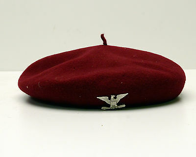 Vintage Kangol Beret Hat Military Wool Red Made in England Anglobasque