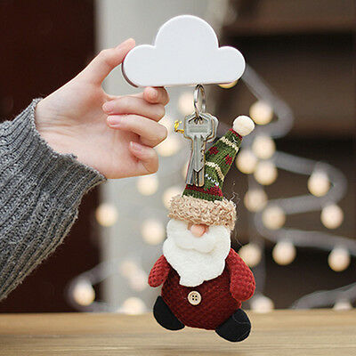 Creative Cloud-shaped Magnetic Keychain White Cloud Novelty Wall Key Holder HOT