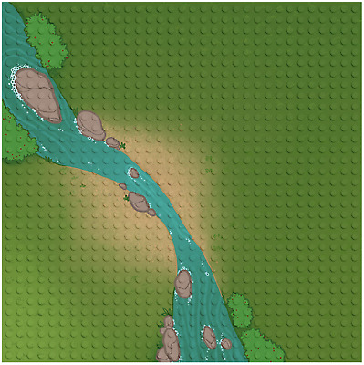 Base Plate Grassland River Style 32X32 Studs Baseplate Lego Compatible