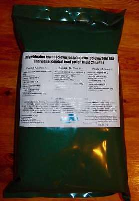 MRE Meal Ready to Eat, army food, Polen BW, NOTRATION MENÜ, für 24 h, RB2, Neu