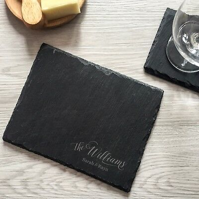 engraved personalized custom cheese board tray stone birthday wedding gifts