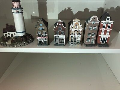 houses for a small town set 6 pieces old village