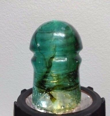 Vintage Brookfeild Insulator with Amber Inclusions