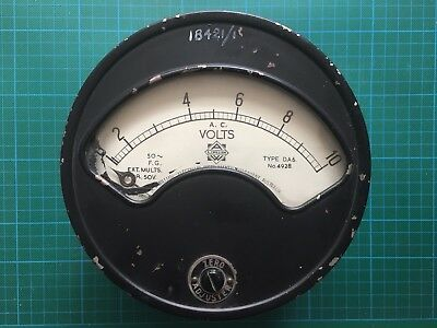 Vintage Steampunk Collectors Electrical Gauge Meter 162mm Face - Steel Model