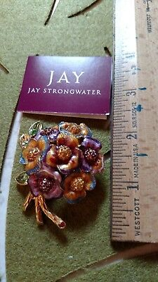 Jay Strongwater Beautiful floral pin. New