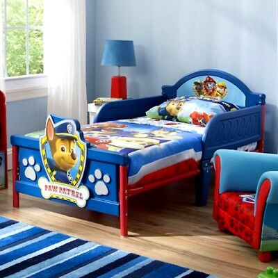 Paw Patrol Toddler Bed Delta Furniture Boys Junior Cot 3D Chase