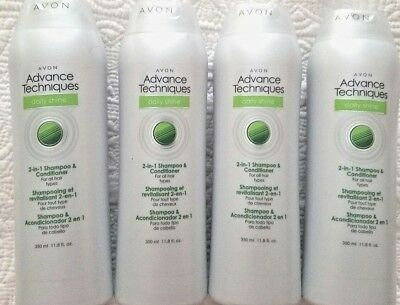 Avon Advance Techniques 2- in-1 Shampoo & Conditioner *4LOT* Unisex daily use