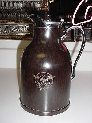 SS UNITED STATES LINES  Bakelite Officer's Carafe / Mid-Century / High Gloss