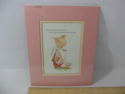 New! Very Few & Just One You Precious Moments Decorative Picture In Frame Duck