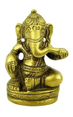 4 X Bronze Ganesh Statues Wisdom, Study, Knowledge, Wealth, Hinduism - 65 mm(H)