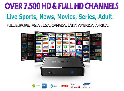 1 MONTH IPTV SUBSCRIPTION 7.500 FULL EUROPE, ARAB, USA, UK, CANADA, VOD & more