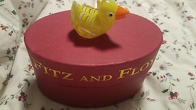 Fitz and floyd glass menagerie Rubber Ducky 43/159