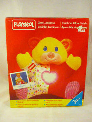 PLAYSKOOL GLOW TEDDY BEAR Vintage Plush Boxed Toy