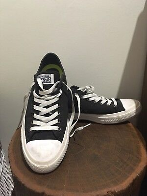 Mens black and white converse shoes with lunar soles size 9