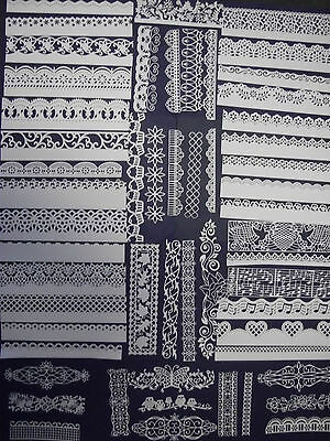 Large amount of mixed white Border die cuts, Tattered Lace (Stephanie Weightman)