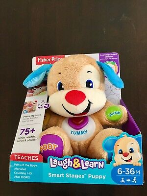 BRAND NEW Fisher Price Laugh and Learn Smart Stages Puppy 6-36m