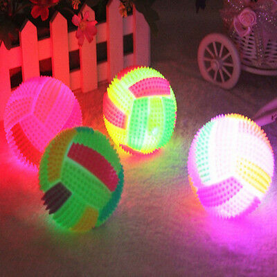 HOT LED Volleyball Flashing Light Up Bouncing Ball Color Changing Kids Child Toy