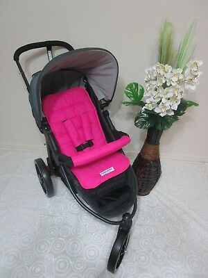 Stroller/pram liner set reversible,universal-Hot pink-QLD made*FUNKY BABYZ*
