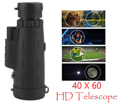 Night Vision 40x60 HD Optical Monocular Travel Hunt Camping Hiking Telescope TB