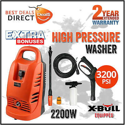 X-BULL 3200Psi High Pressure Water Washer Cleaner Electric Gurney Pump 8.5M Hose