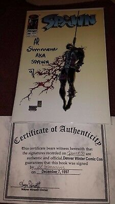 Spawn #30 signed by Al Simmons with COA
