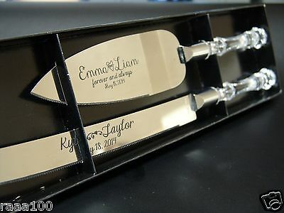 Personalized Wedding Anniversary Cake serving set ( includes knife and Server)
