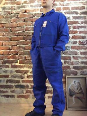 Vtg French Workwear Coveralls Overalls Chore Tank Boiler Suit Jump Work Pants 87