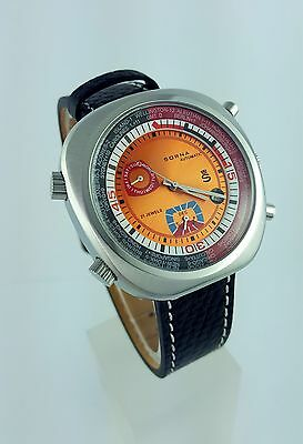 Sorna - Armbanduhr - Automatic - Neu - Vintage - Orange