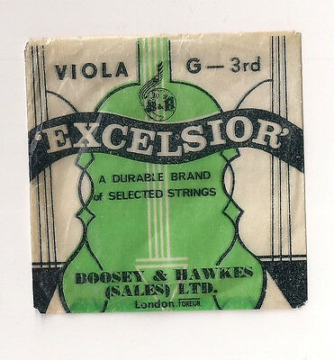 VINTAGE VIOLA 'G' 3rd STRING WOUND ON GUT -  EXCELSIOR by Boosey & Hawkes