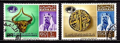 Bahrain Stamps. 1970 Asian Archaeology Conf 60f & 150f. SG171, 174. Used. #3041