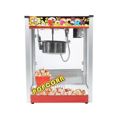 8oz Commercial Popcorn Pop Corn Maker Popcorn Machine Cooker 1440W For Party AU