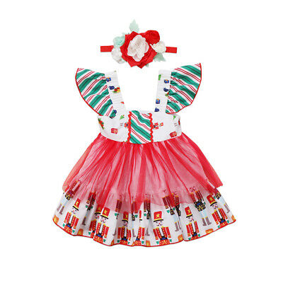 Newborn Baby Kids Girls Clothes Princess Dress Toddler Party Christmas Costumes