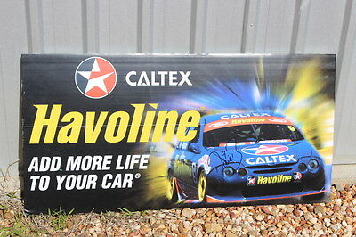 Signed Stone Brothers Racing Caltex sign