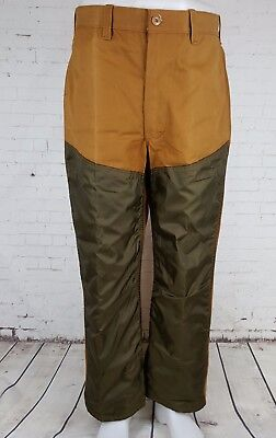 "Vtg 60s/70s Brown Canvas / Nylon ""Saf T Bak"" Hunting Trousers USA  W36 L29  EK59"