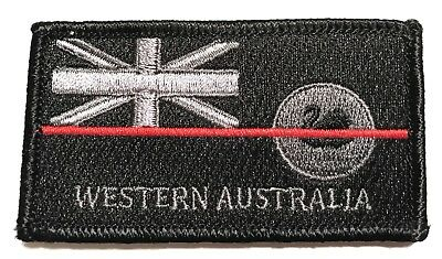 WA Fire Patch, NSW State Flag, Thin Red Line, Hook Rear, 1 x Item