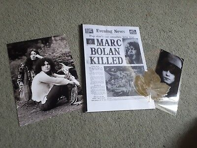 Marc Bolan Items.