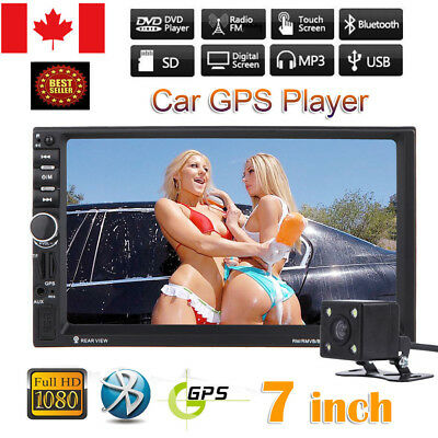 "7"" HD Car Stereo Touch MP3 MP5 Player 2 DIN Double Bluetooth Radio GPS + Camera"