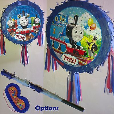 Thomas The Train Pinata set Kids Smash Party Fun Stick Chu Choo Blue Tank Engine