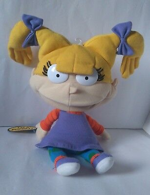 Nickelodeon Rugrats Angelica Hand Puppet Plush Soft Toy Viacom Figure With Tag