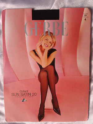 Collants rétro pantyhose vintage GERBE taille 4 FR/EUR46/48 UK10 USA/D44/46