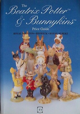 Vintage Bunnykins and Beatrix Potter PRICE GUIDE COLLECTOR'S BOOK Royal Doulton