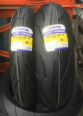 12070-17 58W & 18055-17 73W ZR Michelin Pilot Power Motorcycle Motorbike Tyres