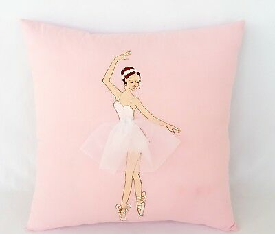 SimplyArt Magic Ballerina Decorative Pillow, Hand Painted Design