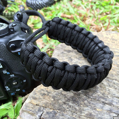New Camera Wrist Strap Braided Paracord Strong Weave Lanyard Bracelet Adjustable