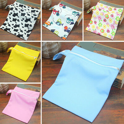 Newborn Dry Wet Cloth Changing Bag Baby Kid Diaper Nappy Pram Stroller Organizer